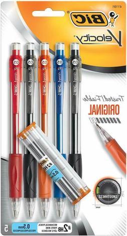 BIC Velocity Original Mechanical Pencil, Fine Point , 5-Coun