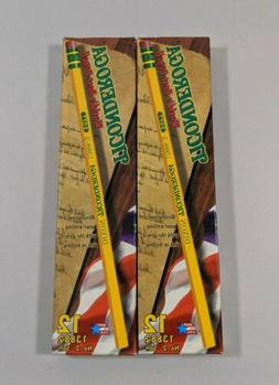 Vintage 2 NEW Boxes Dixon Ticonderoga No. 2 Soft Pencils 138