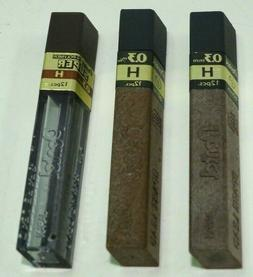 vintage new Lot of 3 PENTEL .3mm H Lead REFILL for Mechanica