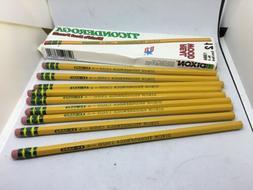 Vtg Box of 9 Dixon Ticonderoga Pencils # 1388 Extra Hard 4
