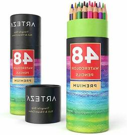 Arteza Watercolor Pencils, Soft-Core, Triangular-shaped, Pre
