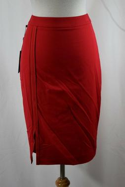 Tommy Hilfiger Woman's Pencil Red Skirt Size 0 #H404