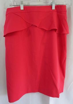 Express Womens sz 6 Skirt Pink Peplum Straight Pencil Waistb