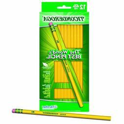 Dixon Ticonderoga Wood-Cased #2 HB Pencils, Hang Tab Box of