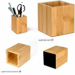 Wood Pen Holder Desk Pencil Holders Wooden & Organizer Cup F