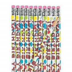 Fun Express Wooden Happy Birthday Pencils  FNEIN-12/19530
