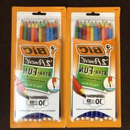 BIC Xtra Fun Break Resistant Lead #2 HB Pencils 2 pks of 10