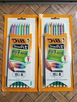 BIC Xtra-Fun Stripes #2 Pencil, 8-Pack