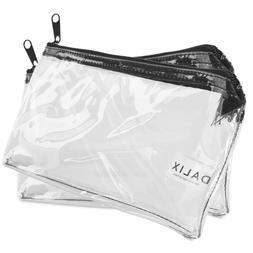 DALIX Zipper Makeup Bag Pencil Pouch Travel Accessories Hold