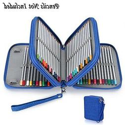 BTSKY Zippered Pencil Case-Canvas 72 Slots Handy Pencil Hold